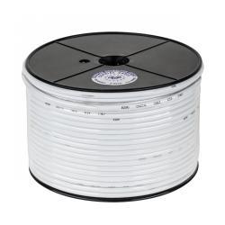 Kabel koncentryczny 3c 2v biały 100m CCS, rolka