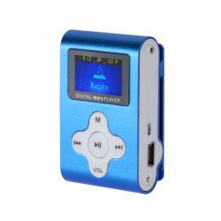 Odtwarzacz MP3 z wyświetlaczem Quer (niebieski)
