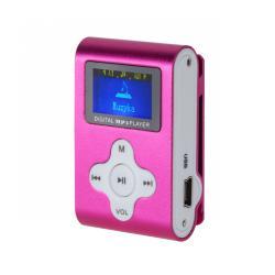Odtwarzacz MP3 z wyświetlaczem Quer (różowy)