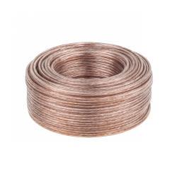 EDC Kabel głośnikowy bezbarwny 25m 2x0.75, rolka