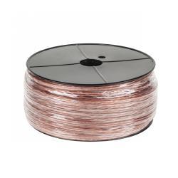 EDC Kabel 2 x RCA bezbarwny 100m żyła 3,5mm, rolka