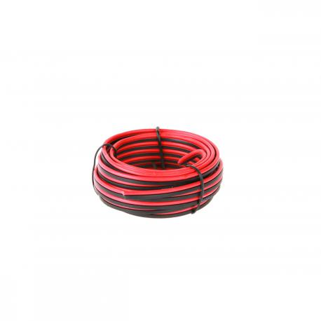 EDC Kabel głośnikowy 5m 2x0.35mm czerw.-czarn., rolka