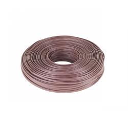 Kabel telefoniczny 4C brązowy 100m, rolka