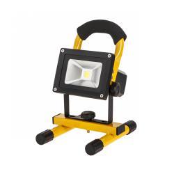 Reflektor przenośny LED 10W z ładowarką sieciową i samochodową