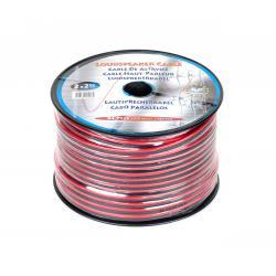 Kabel głośnikowy CCA 2x2.5mm 100m czerwono-czarny, rolka
