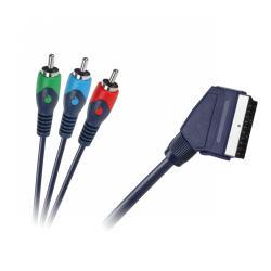 Kabel Euro-3RCA 2m łezka blister