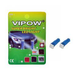 Żarówka sam. 12V T5-WG 1SMD 5050 3chips niebieska/ blister- 2szt., blister