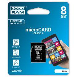 Karta pamięci microSD 8GB class 4 Goodram z adapterem