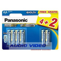 .Bateria LR6 Panasonic EVOLTA B4+2