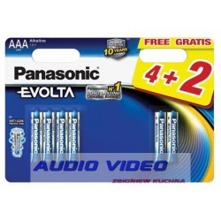 .Bateria LR03 Panasonic EVOLTA B4+2