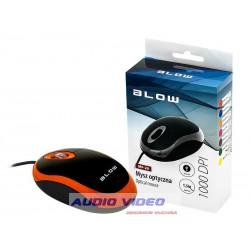 Mysz optyczna BLOW MP-20USB pomarańczowa