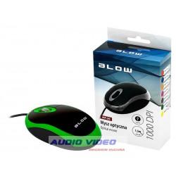 Mysz optyczna BLOW MB-20 USB ZIELONA