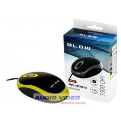 Mysz optyczna BLOW MB-20 USB ŻÓŁTA