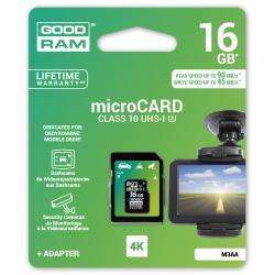 Karta pamięci microSD 16GB UHS-I Goodram z adapterem do rejestratorów sam.