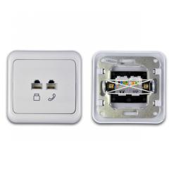 Gniazdo telefoniczne i komputerowe LK82037