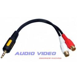 .Wtyk 3.5/2gn.RCA na kablu