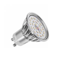 Lampa LED (24 SMD 3014) 6W, GU10, 6000K, 230V (wind shape)