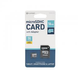 Karta pamięci micro SDHC 16GB + adapter class10 PLATINET
