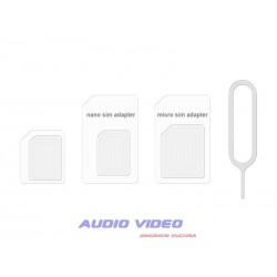 .Adapter do kart micro i nano SIM biały