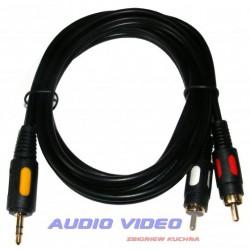 .Kabel jack 2xRCA 1.5m HQ
