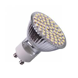 Żarówka 60 SMD (3,0W), GU10, zimne białe, 230 V