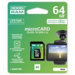 Karta pamięci microSD 64GB UHS-I Goodram z adapterem do rejestratorów sam.