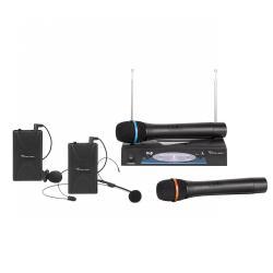 Mikrofon dwukanałowy VHF zestaw premium