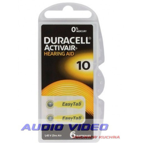 Bateria słuchowa duracell DA10.PR230