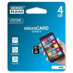 Karta pamięci microSD 4GB class 4 Goodram bez adaptera