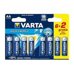 Bateria alkaliczna VARTA LR06 HIGH ENERGY 8szt./bl.1szt.=blist.