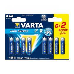 Bateria alkaliczna VARTA LR03 HIGH ENERGY 8szt./bl., blister