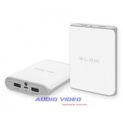 Power Bank14000mAh 2xUSB PB14 biały 5V/2.1A+5V/2.5A