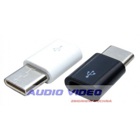 Adaptor gniazdo micro USB/wtyk typ C