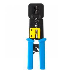 Zaciskacz wtyków telefon.4P/6P/8P do wtyków przelotowych