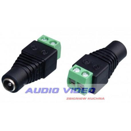 Gniazdo DC szybkozłącze 2.1/5.5 na kabel