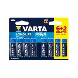 Bateria alkaliczna VARTA LR06 LONGLIFE 8szt./bl., blister