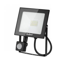 Reflektor LED Rebel 20W (24x2835 SMD), 3000K, z sensorem zmierzchu, 230V